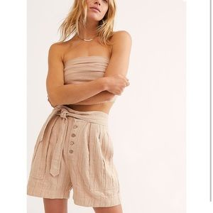 Free People Thea Tie Shorts